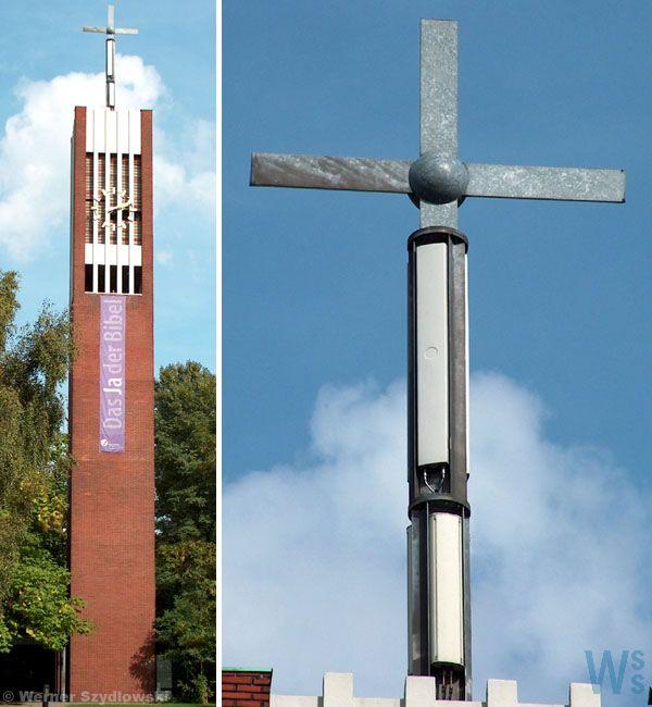 Selbst in den Kreuzen der Kirchen werden sie montiert - Strahlenwaffen gleich um die Ecke